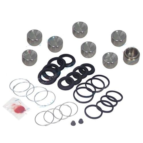 Front Brake Caliper Rubbers Pistons Repair Kit suits Landcruiser FZJ80 HDJ80 HZJ80 8/1992-98 80 Series