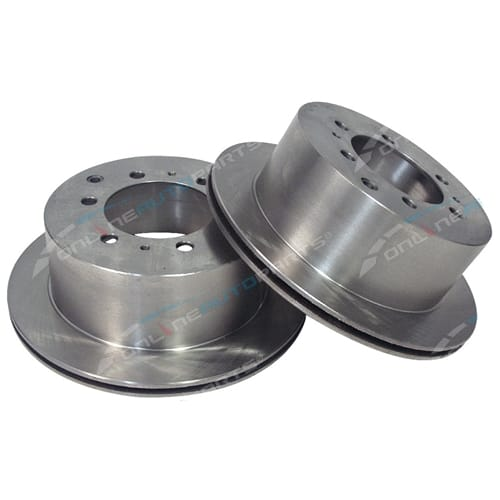 2 Rear Disc Rotors suits Toyota Landcruiser 80 Series FJ80 HDJ80 HZJ80 HZJ81 New Pair Brake 1990 to 8/1992