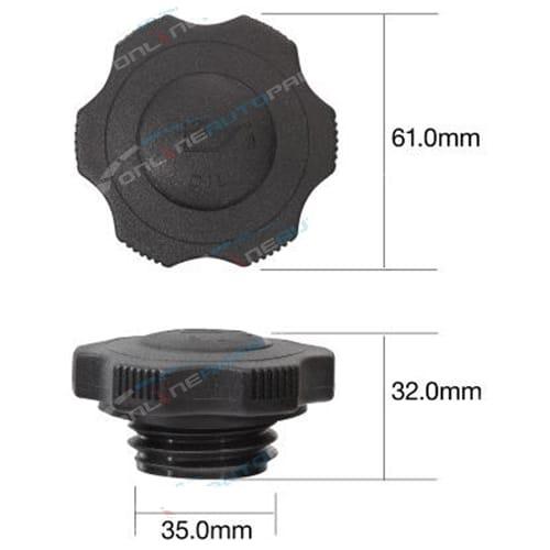 TOC513 - Engine Oil Cap Plastic screw (fine thread) - Tridon