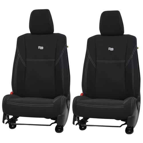 Pair of Front Neoprene Car Seat Covers suits Mitsubishi Triton MQ 5/2015~2018 2015 2016 2017 2018