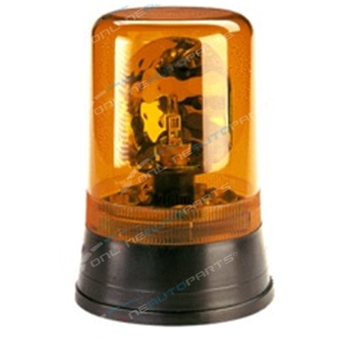 Narva Hi Optics Rotating Beacon Amber Light Flange Base 12V/24V