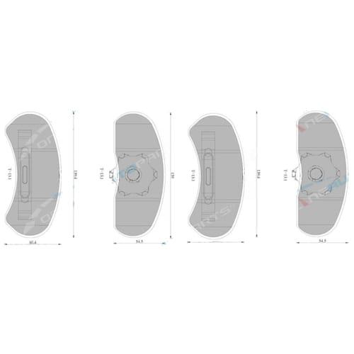 Bosch Front Disc Brake Pad Set Ford LTD FC FD FE 5.7L 4.1L 4.9L V8 + 6cyl 1979 1980 1981 1982 1983 1984 1985 1986 1987 1988