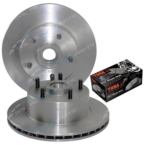 2 Disc Brake Rotors + Pads Disc Rotor Tora Pads