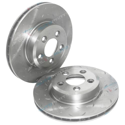 2 Front Slotted Disc Brake Rotors Ford Territory Cross Drilled TX TS TY 6/04-13 Ghia AWD RWD 4x4
