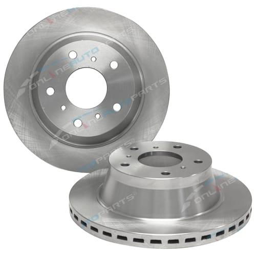 Front Set of 2 Disc Rotor Tora