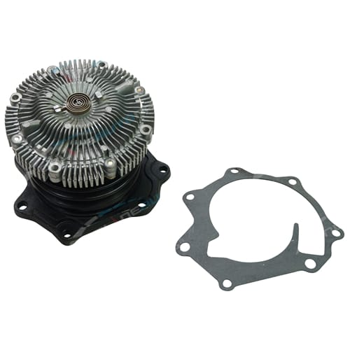 Water Pump with Clutch Fan fits Nissan Navara D22 4cyl QD32 3.2L Diesel 1997 to 2001