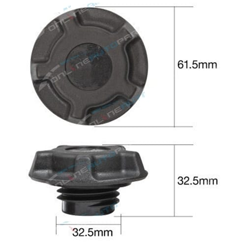 TOC545 - Engine Oil Cap Plastic Screw - Tridon