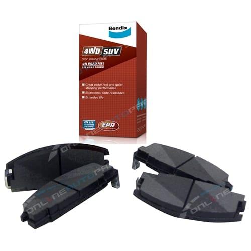 Bendix Front Disc Pads Jackaroo UBS17 UBS55 88-92 4X4 wagon Isuzu Big Horn - 4 Brake Set