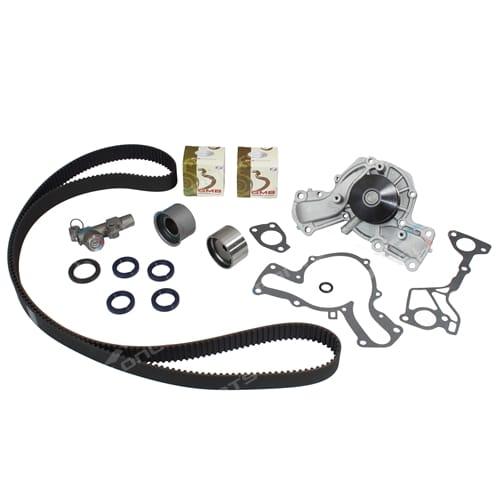 Timing Belt w/ Auto Tensioner, Water Pump Kit for Pajero NJ NK V6 6G74-DOHC 3.5L 1993 1994 1995 1996 1997