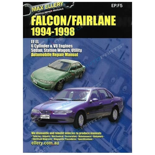 Workshop Manual Ford Falcon EF EL Fairlane NF NL 94-98 LTD Fairmont Repair Book