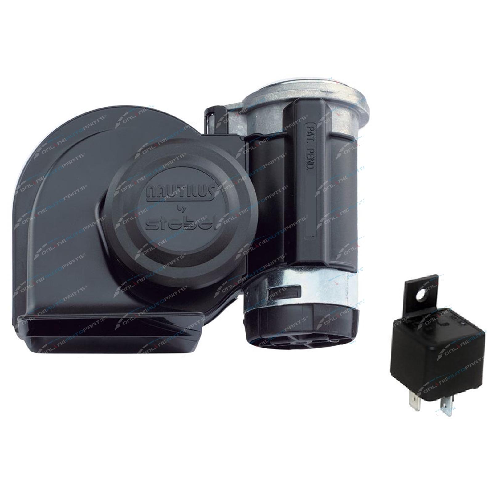 Stebel nautilus truck air horn black volt loud new with jpg 1600x1600 Air  horn battery starter