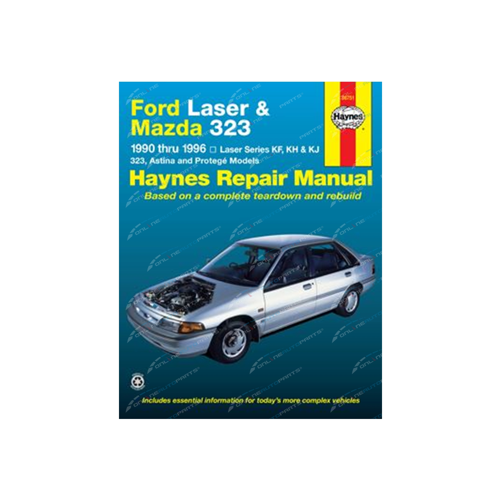 Haynes Car Repair Manual Book Laser KF KH KJ 90-99 1.3L 1.6L ...