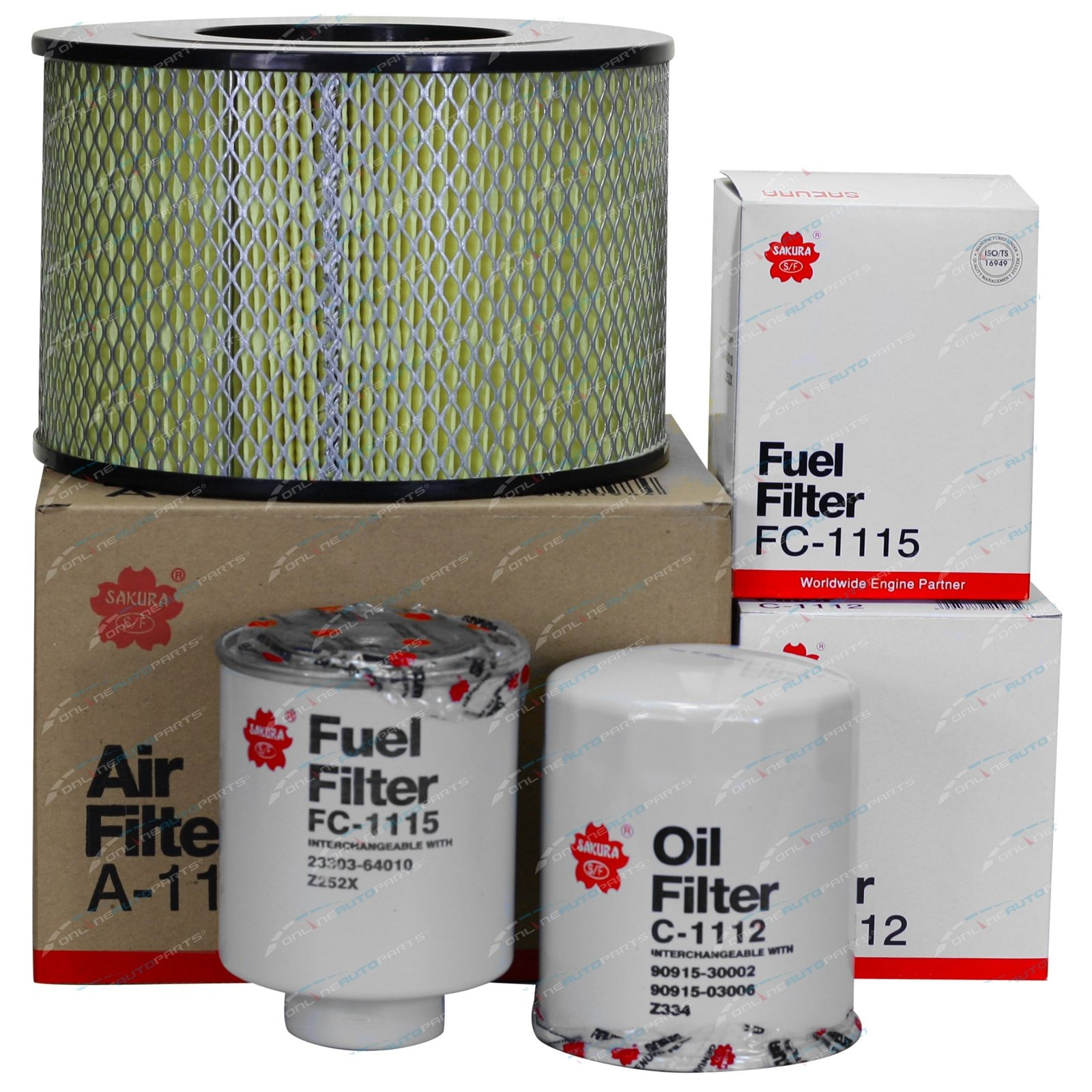 Air Oil Fuel Filter Service Kit suits Toyota Landcruiser HDJ80 1HD-T