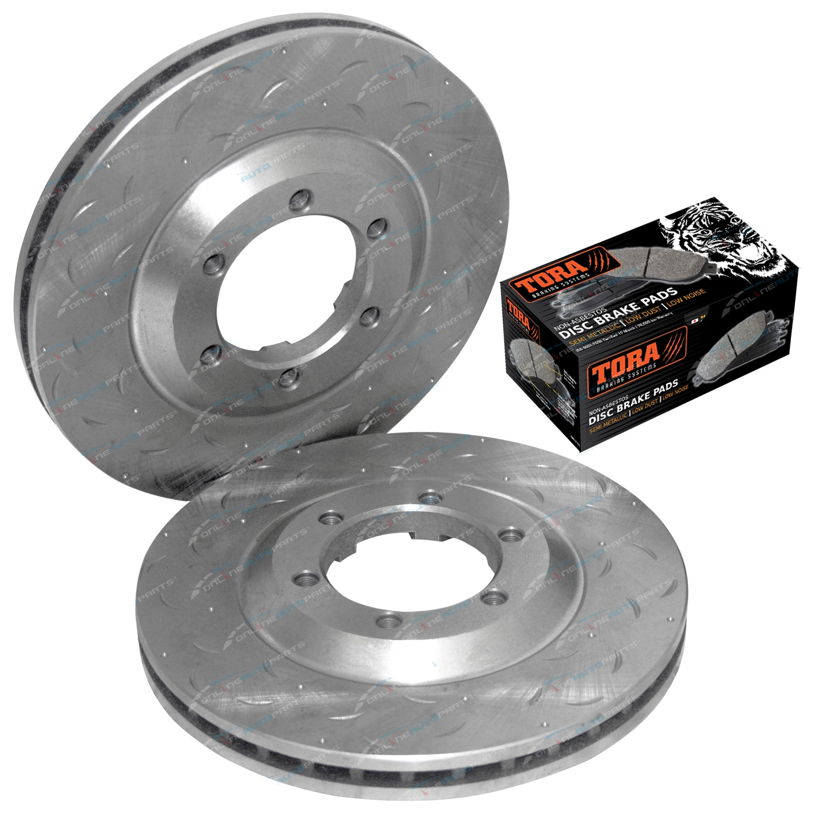 2 Front Disc Rotors + Brake Pads Holden Rodeo RA 2003-2008 4X4 Ute