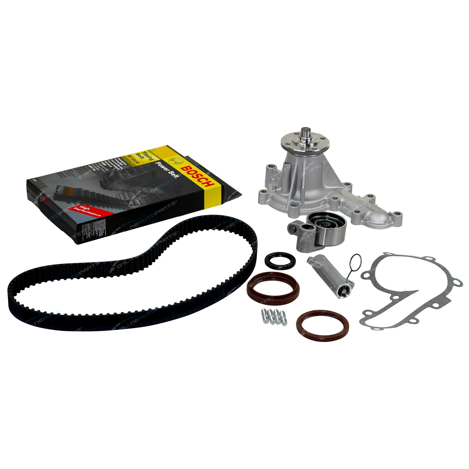 Bosch Timing Belt - Hydraulic Tensioner - GMB Water Pump Kit HDJ80