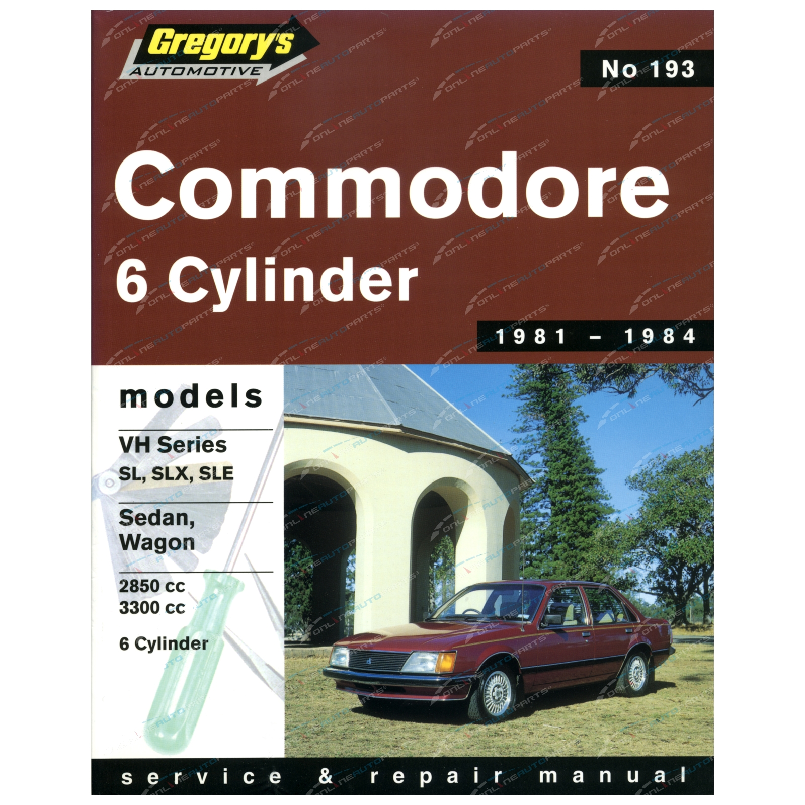 Gregory's Workshop Repair Manual Book Holden Commodore VH 6 Cylinder 1981 1982 1983 1984