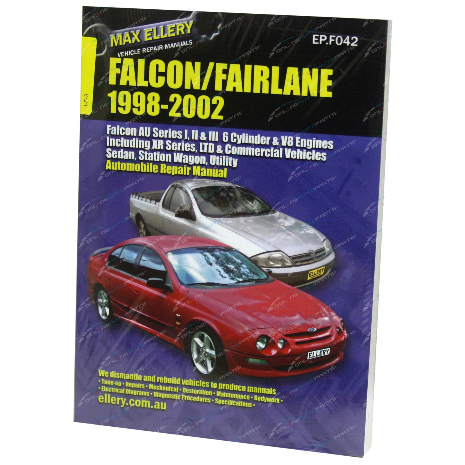 Workshop Car Repair Manual Ford Au Falcon Fairlane Xr6 Xr8 Sedan Wagon Ute Book Epf042 Onlineautoparts