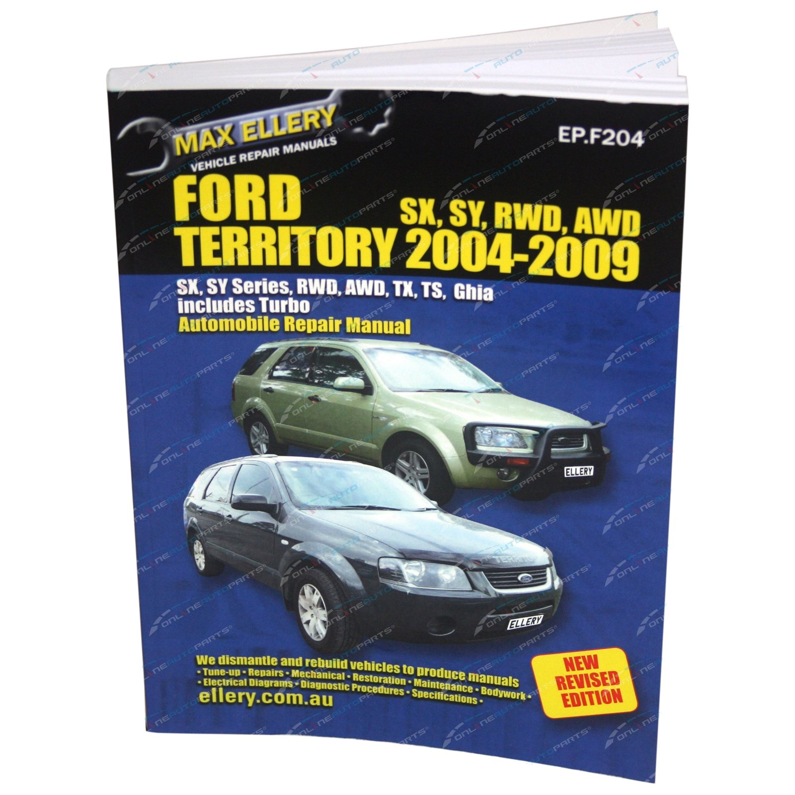 new workshop repair manual book ford territory 2004 2009 rwd awd 4x4 rh onlineautoparts com au 2014 Ford Territory 2013 Ford Territory