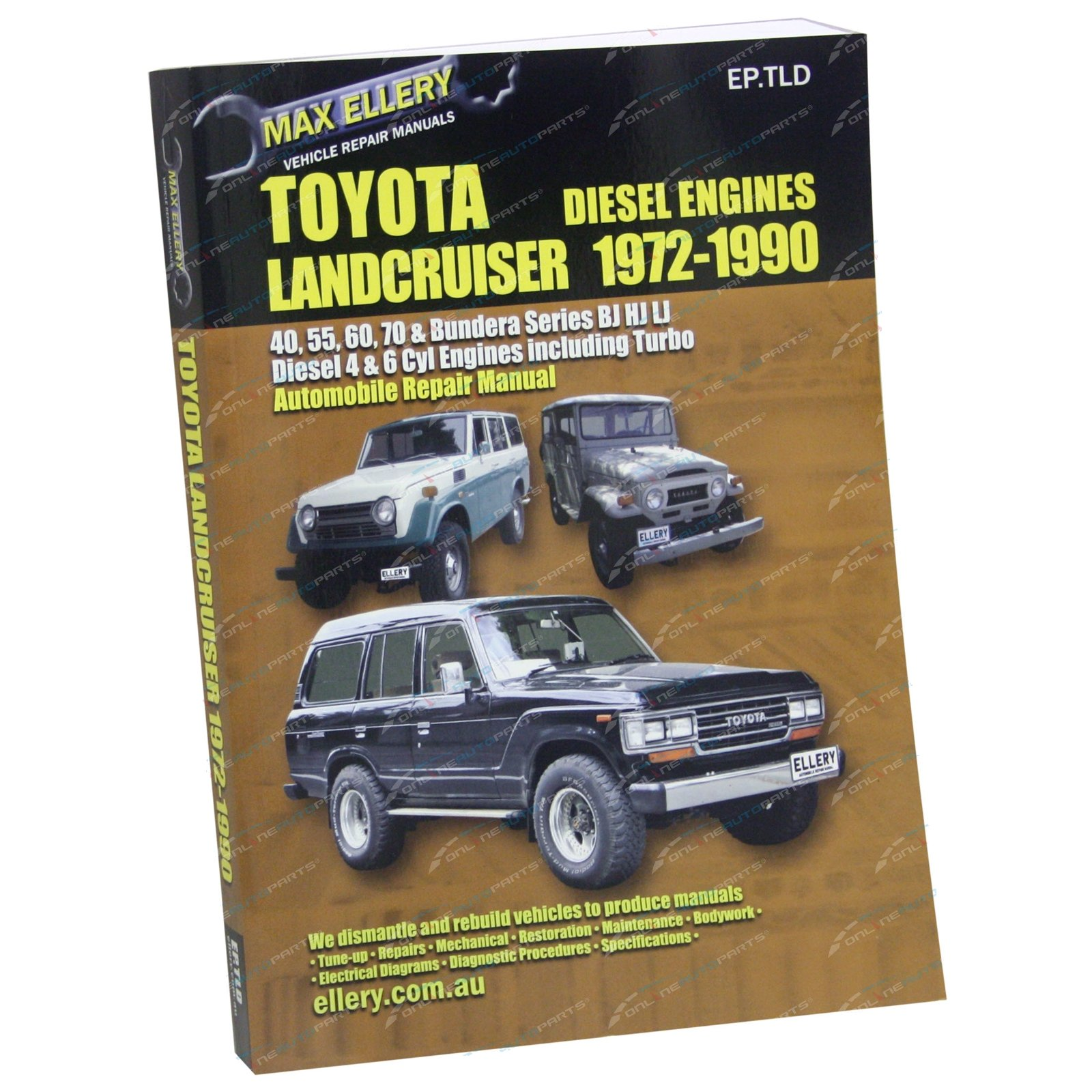 workshop repair manual book suits landcruiser hj45 hj47 hj60 hj61 rh onlineautoparts com au 2000 Toyota Land Cruiser 1970 Toyota Land Cruiser