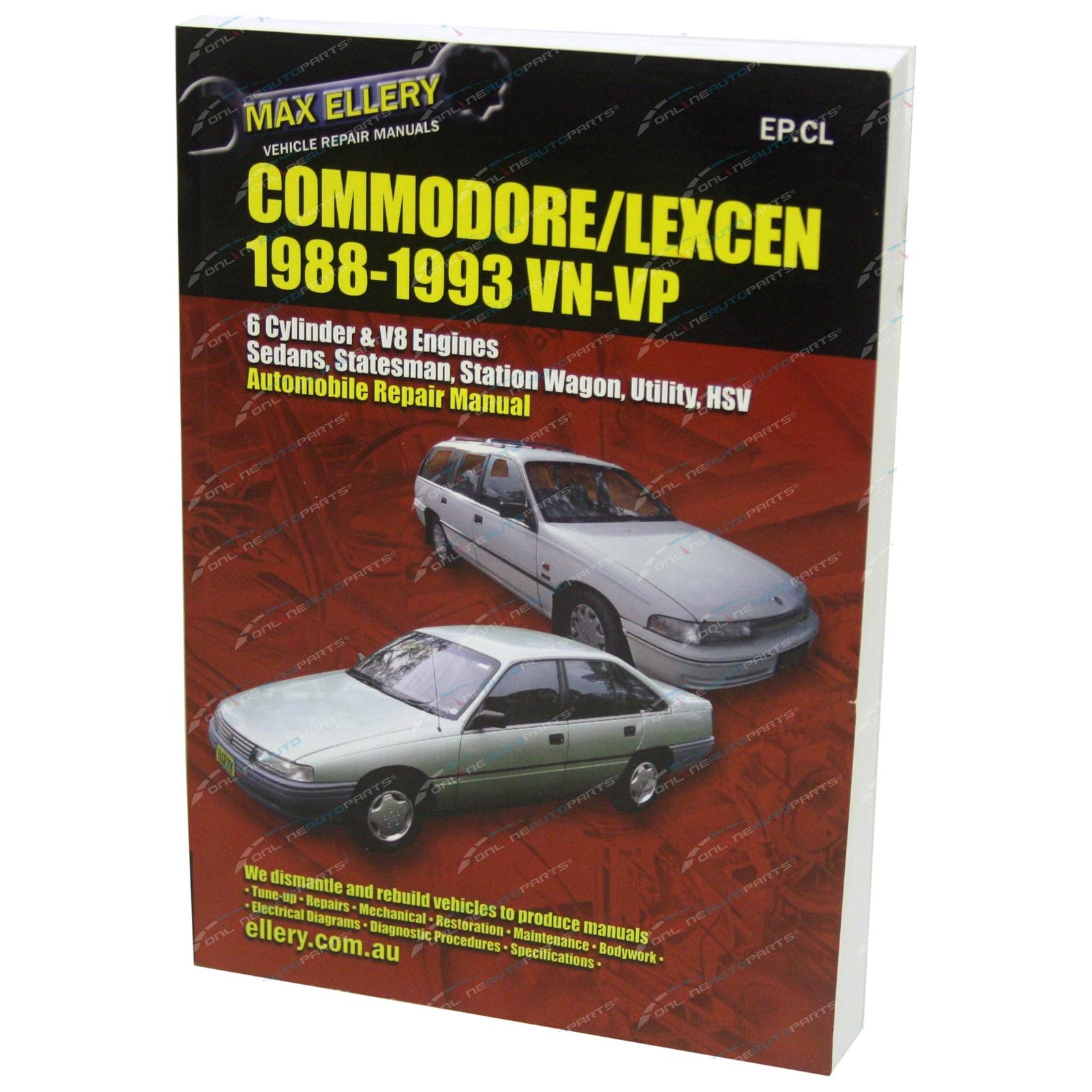 New Workshop Repair Manual Commodore Vn Vp V6 V8 456page Book Wiring Diagram Garage Service Max Ellery