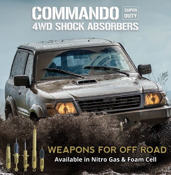 Front & Rear Commando Foam Cell Shock Absorbers Nissan Patrol GQ Y60 GU Y61 Wagon Coil Suspension