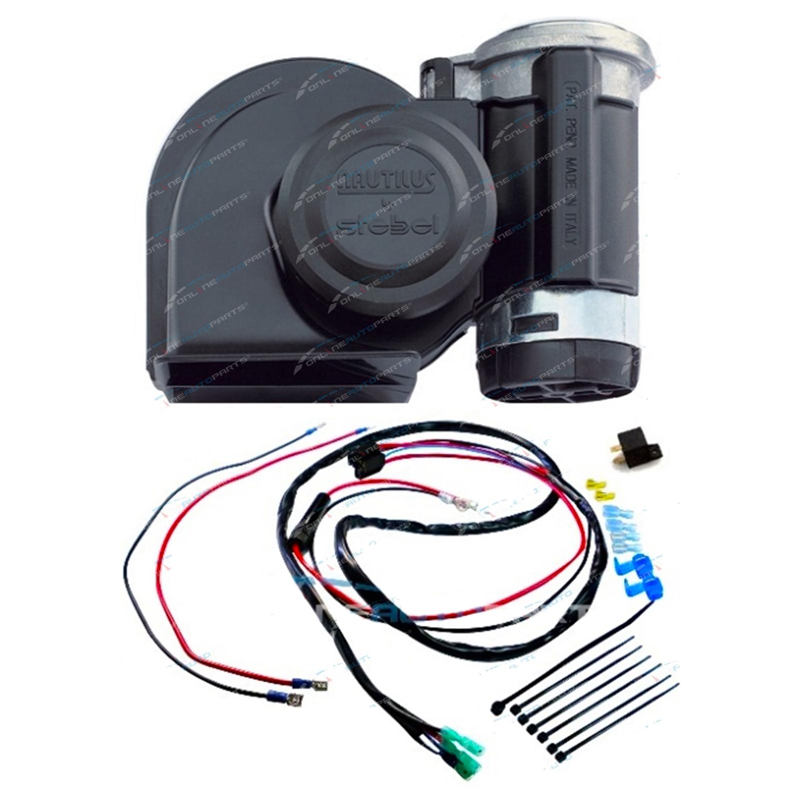 Stebel Nautilus Black Car Air Horn Kit 12 Volt 139db Incl