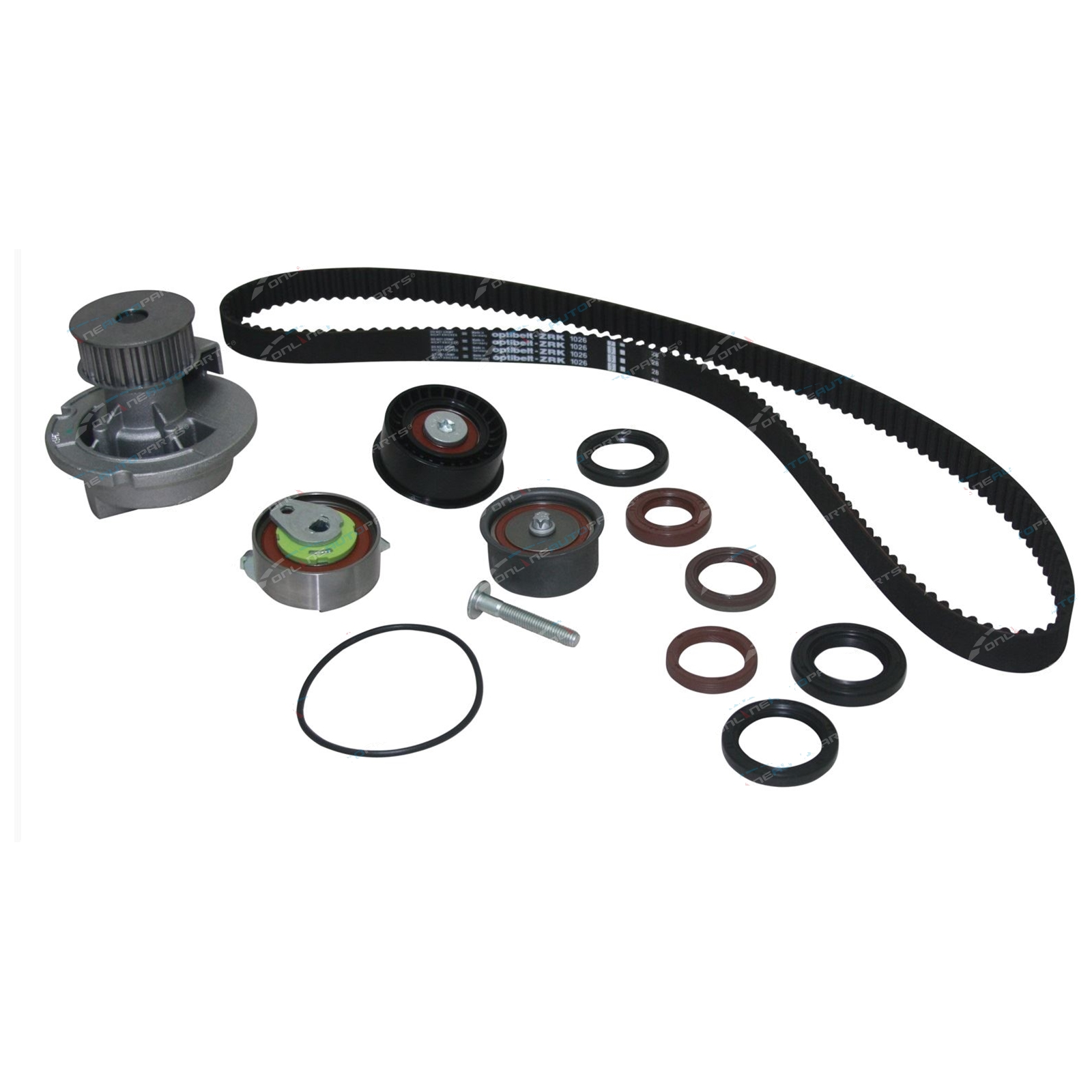 Timing Kit Holden Viva JF 2005-09 4cyl F18D3 1.8L 1796cc 16v DOHC Belt, Seals, Tensioner,Water Pump