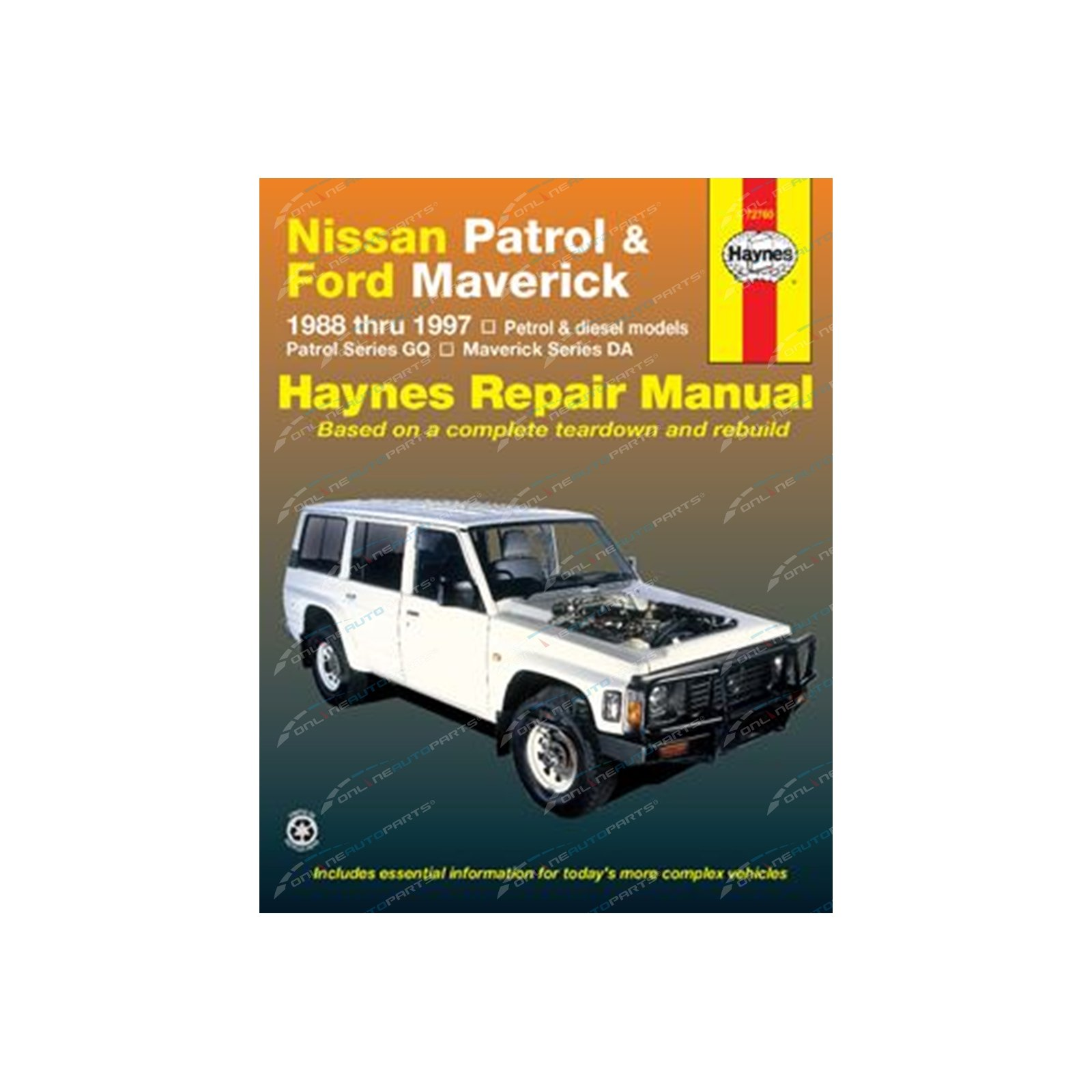 Haynes Car Repair Manual Book for Nissan Patrol GQ GR Y60 Petrol + Diesel  Engine incl