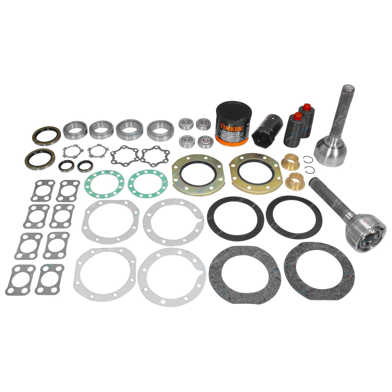 Swivel Hub CV Joint Wheel Bearing + Oil Seal Kit suits Toyota Land