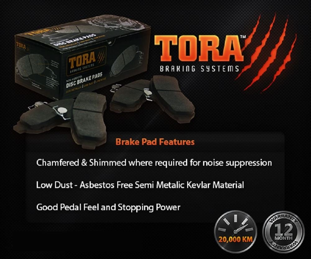 Tora Front Disc Brake Pad Set suits Great Wall SA220 CC 2.2L RWD Utility 2009 2010 2011 2012 2013 2014 2015 2016 2017