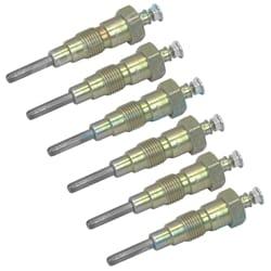 6 Diesel Glow Plugs suits Toyota Landcruiser HJ45 1972-6/1973 H Engine 3.6L 19850-46021 | ZPN-02482