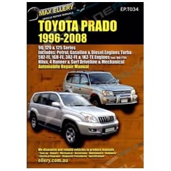 Workshop Repair Manual suits Toyota Landcruiser Prado 96~08 Book VZJ95R KZJ120R | EPTO34