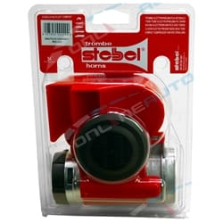 Stebel Nautilus Compact 12 volt Car Air Horn Red 139dB LOUD Bike Truck Italian Design New w/ Relay