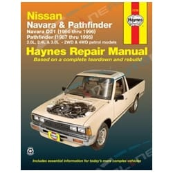 Haynes Car Repair Manual Book Nissan Navara D21 Pathfinder WD21 1985-1997 2wd + 4wd Petrol Models | 72730
