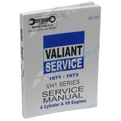 Max Ellery Workshop Repair Manual Book Chrysler Valiant VH Series Book 1 1971 1972 1973   EP-VH1