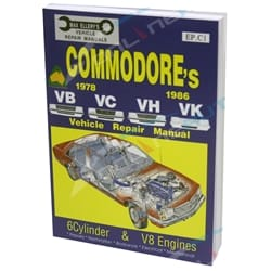 Workshop Repair Manual Commodore VB VC VH VK 6cyl + V8 Max Ellery Car Book New Holden 1978-1986