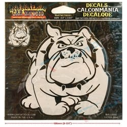 Etched Bulldog Car Tattoo Vinyl Window Decal Sticker