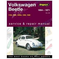 Gregorys Workshop Repair Manual Volkswagen Beetle 1100 1200 1300 1500 1954-1971