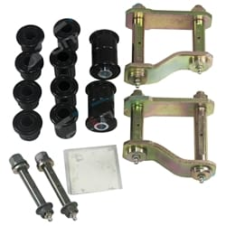Rear Leaf Spring Greasable Shackle, Pin & Bush Kit Nissan Navara D40 Ute 2006-2013 RWD + 4wd | SKND40
