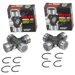 2 Front Drive Shaft Universal Joints suits Patrol GQ Y60 RB30 3.0L Uni Joint incl Safari (2 Front Tailshaft joints)