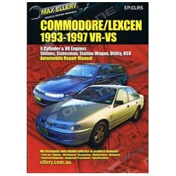 Workshop Repair Manual Holden Commodore VR VS V6 + V8 Max Ellery Mechanical Book