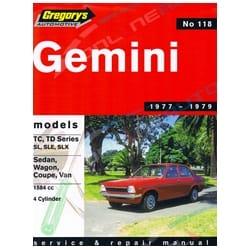 Gregory's Workshop Repair Manual Book Holden Gemini TC TD 4Cylinder 1977 1978 1979 | 04118