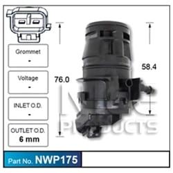 Window Washer Bottle Pump Motor Windcreen Washer Pump Aftermarket OEM Replacement | ZPN-32055