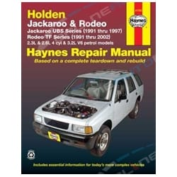 Haynes Car Repair Manual Book Holden Rodeo TF Ute TFR16 TFR17 TFR25 TFS17 TFS25 91-02 Petrol Engines | 41753