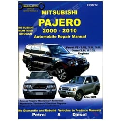 Car Repair Book Mitsubishi Pajero NM NP NS NT 2000-10 Max Ellery Workshop Manual | EP.M212