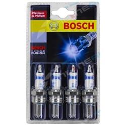Set of 4 Bosch Fusion Platinum Spark Plugs for Mazda Citroen Peugeot Mazda 3 & 6 Citroen BX Peugeot 505   ZPN-19575