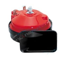 Stebel 410Hz Low Tone Single Electric Horn 12 volt Car MotorBike Bike Red/Black also suitable for 12v MotorBike