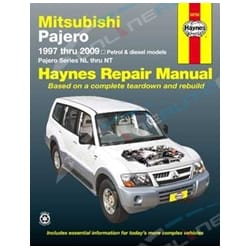 Haynes Car Repair Manual Book Pajero 1997-2009 NL NM NP NS NT Mitsubishi | 68766