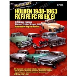 Workshop Manual Holden FX FJ FE FC FB EK EJ 1948-1963 Factory Repair Book Ellery