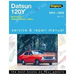 Gregory's Workshop Repair Manual Datsun 120Y B210 Sedan Wagon Coupe 1974 1975 1976 1977 1978 1979